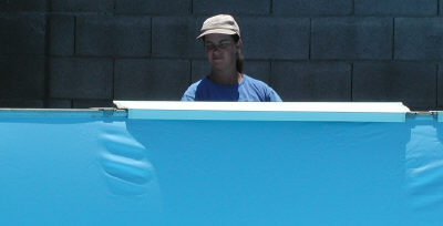 removing above ground pool top rail