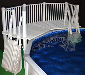 resin above ground pool deck