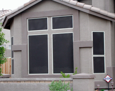 shade screen with white frames