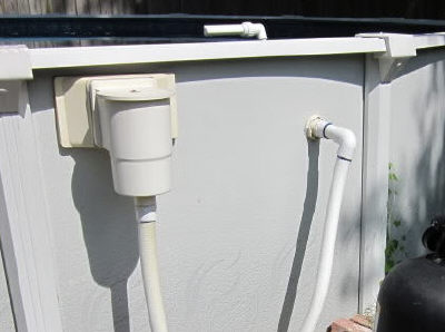 Pool Skimmer with pvc pipe