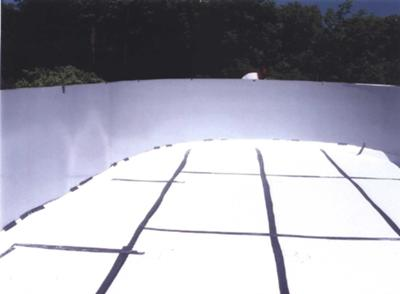 Above Ground Pool with Foam Base
