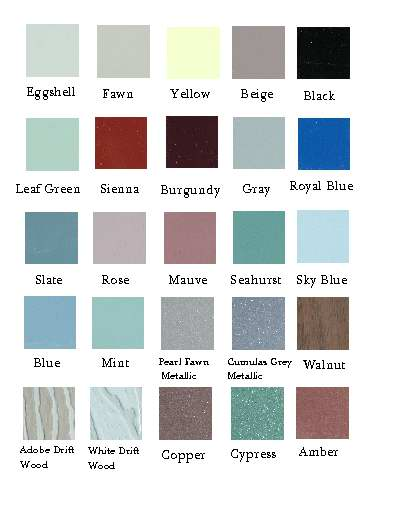 window awning colors