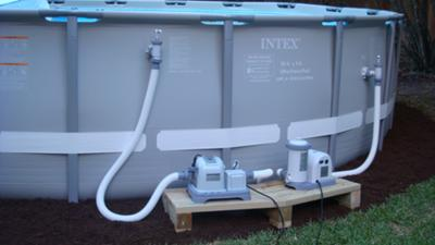 Intex Pool With Salt Water System